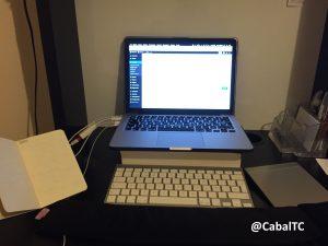 Mi escritorio (David Olier, @CabalTC), preparado para escribir