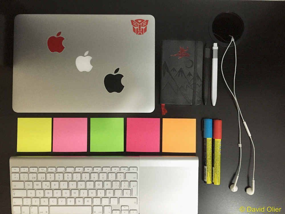 Mis útiles de escritura | David Olier