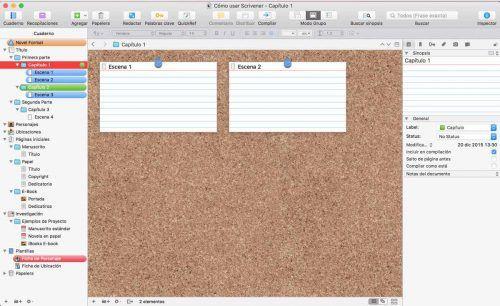 Primeros pasos en Scrivener: la plantilla
