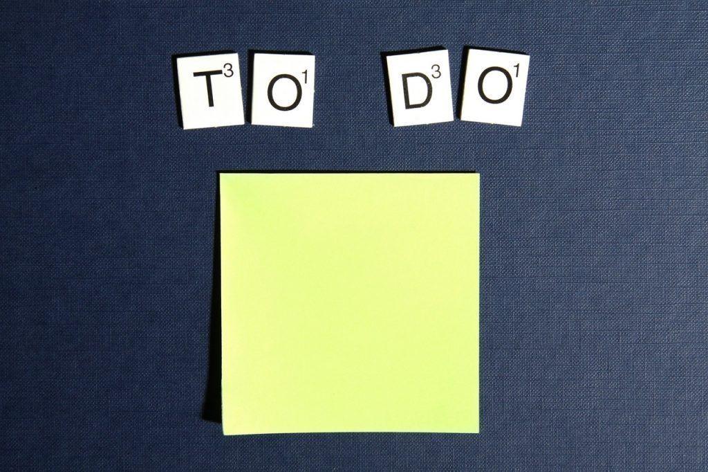 Lista de tareas para tener tiempo para escribir
