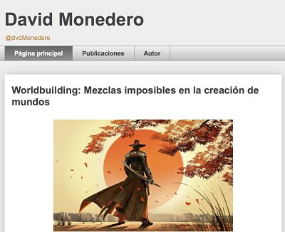 Blogs de ciencia ficción para escritores David Monedero