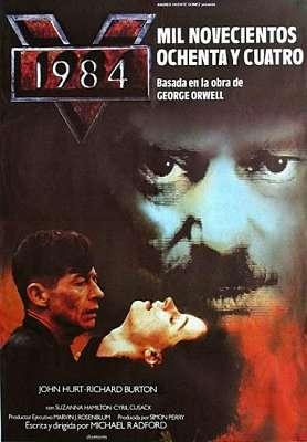 Cartel cyberpunk de la película 1984 basada en la novela homónima de George Orwell