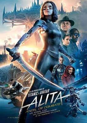 Cartel de la película ciberpunk basada en Gunnm: Alita, Angel de combate