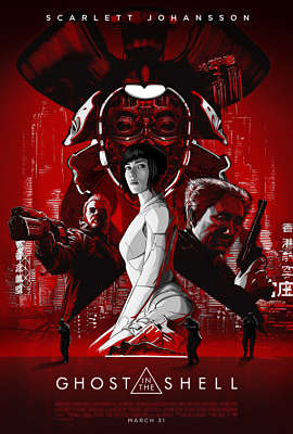 Carteles de películas cyberpunk basadas en libros: Ghost in the shell