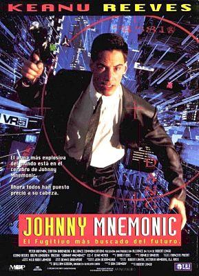Cartel de la película cyberpunk basada en el relato Johnny Mnemonic