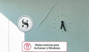 Scrivener 3 Windows malas noticias